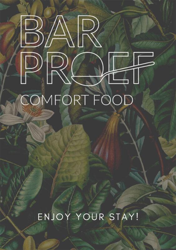 Front menukaart Bar Proef